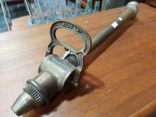 Lot 1107: Vintage French Copper Fire Hose Nozzle, length: 58cm