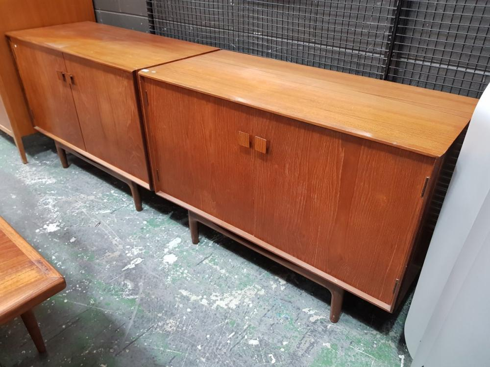 Superb Pair of G-Plan Teak Koford Larsen Danish Sideboards