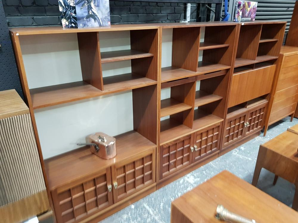 Lot 1111: Set of 3 Younger Teak Bookcases