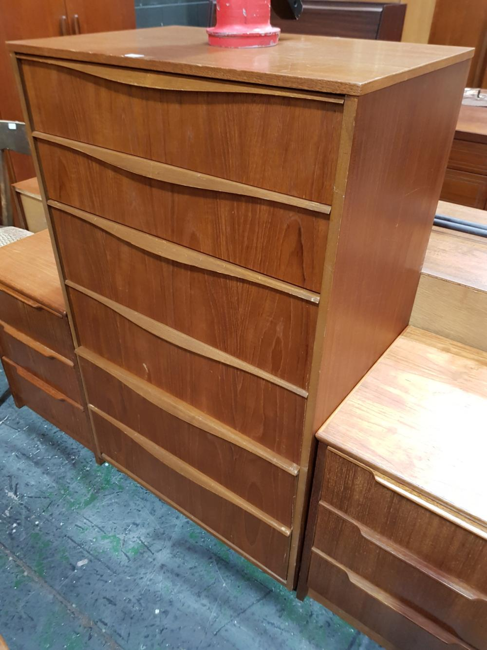 Austin Suite Teak Chest of 6 Drawers