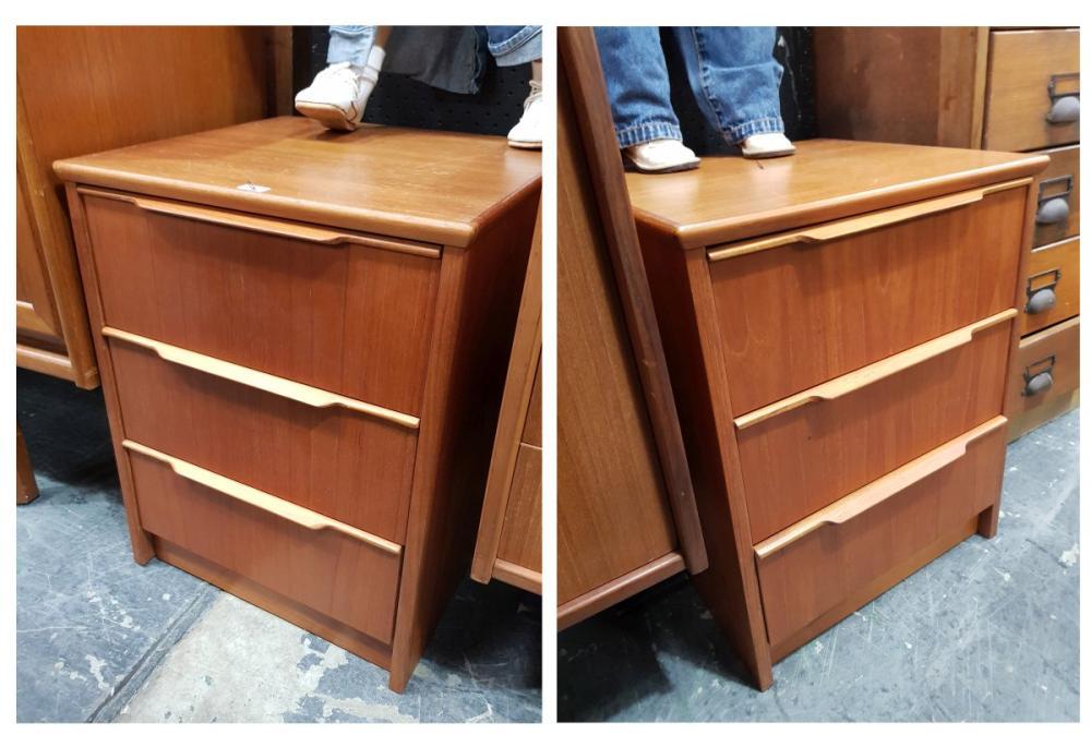 Pair of Austin Suite Teak Bedside Lockers/Chests