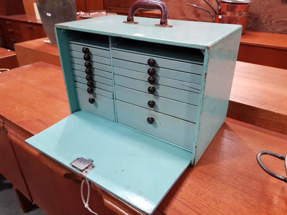 Vintage Dentists Drawer Unit with Tools