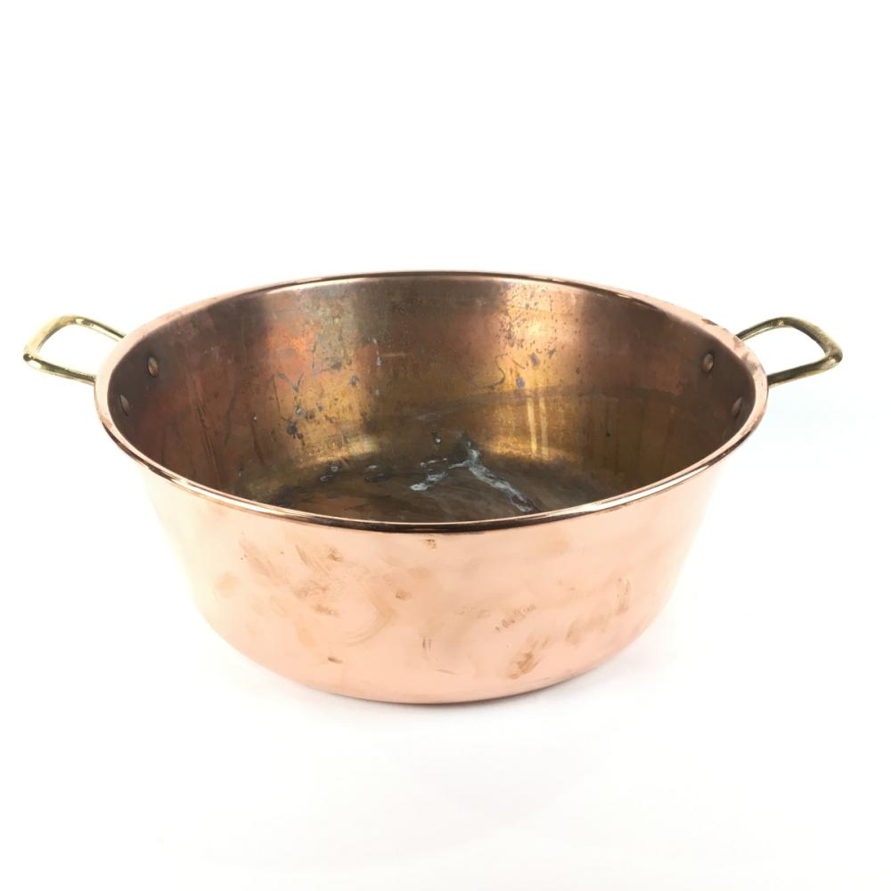 Lot 1142: C19th French Copper Preserving Pan D: 21cm