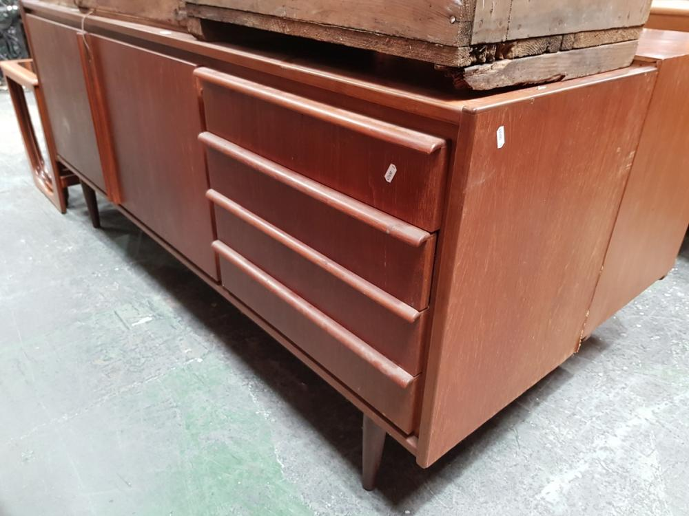 Teak 2 Door 4 Drawer Sideboard