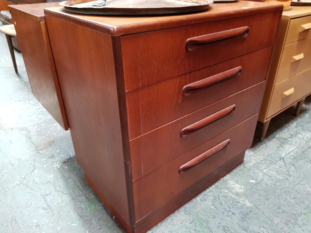 G Plan Teak 4 Drawer Chest