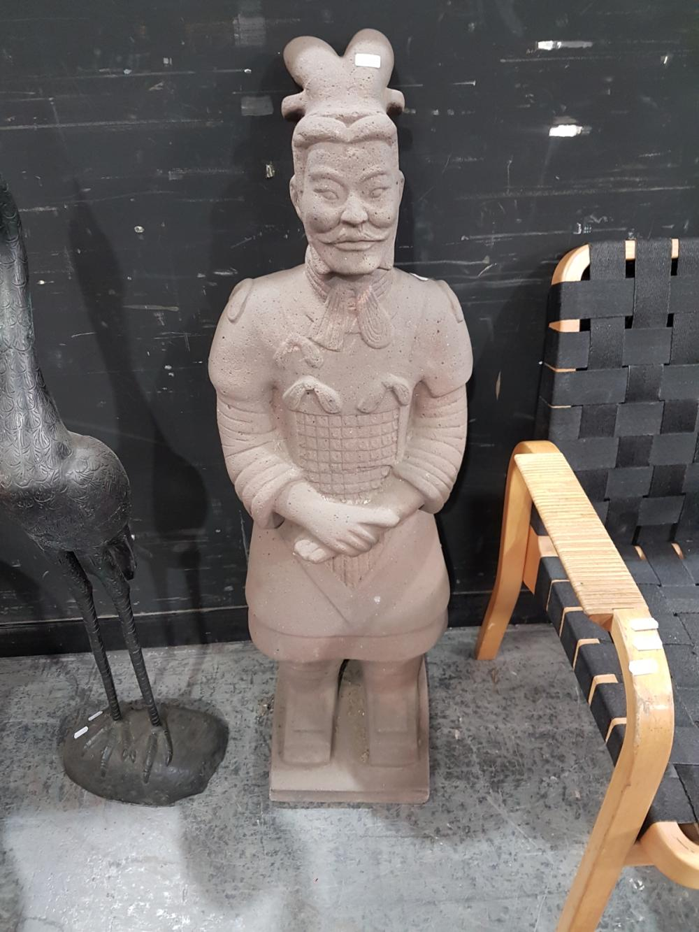 A Scaled Down Version of a Chinese Entombed Warrior -