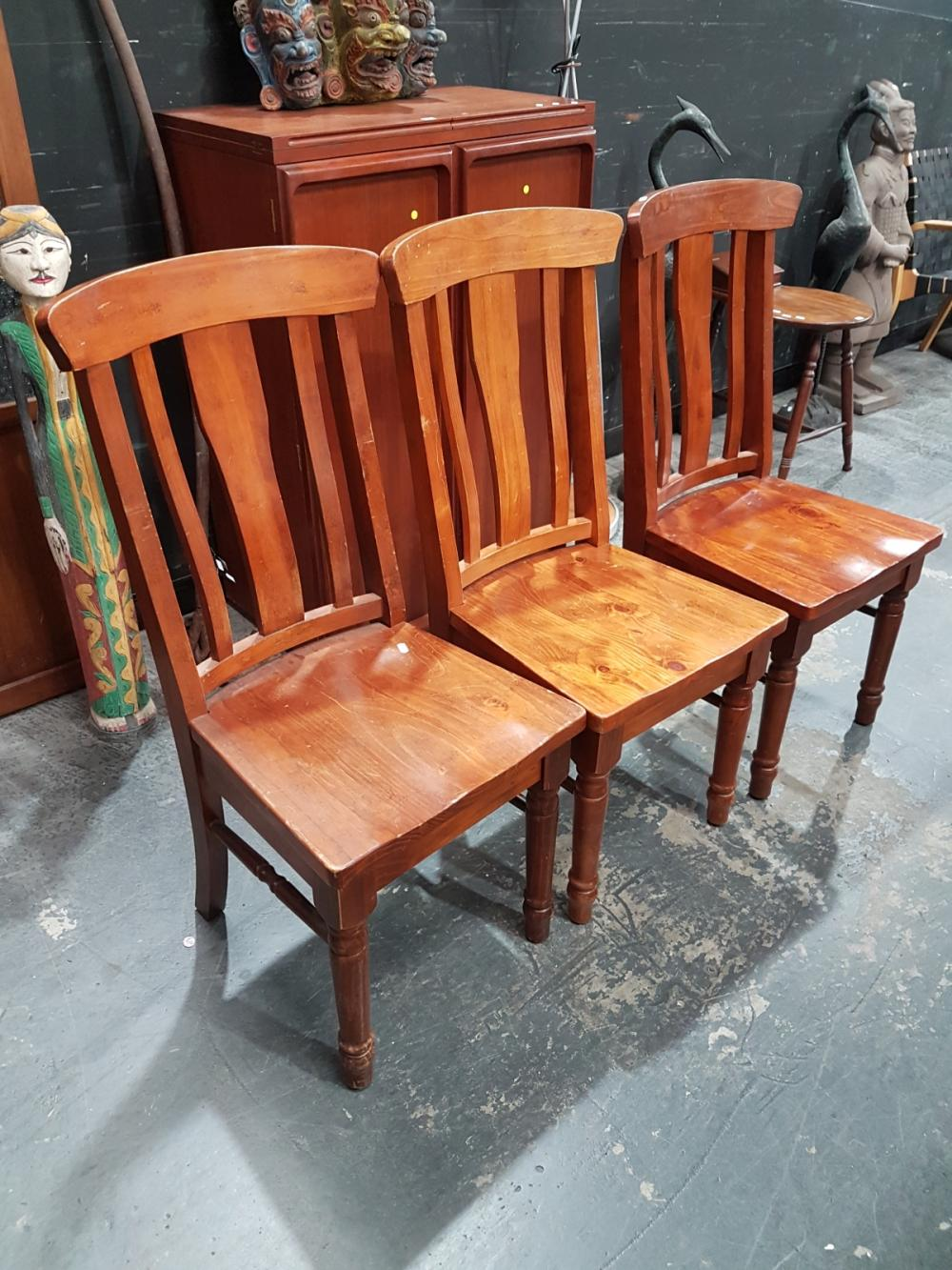 Set of 8 Timber Dining Chairs