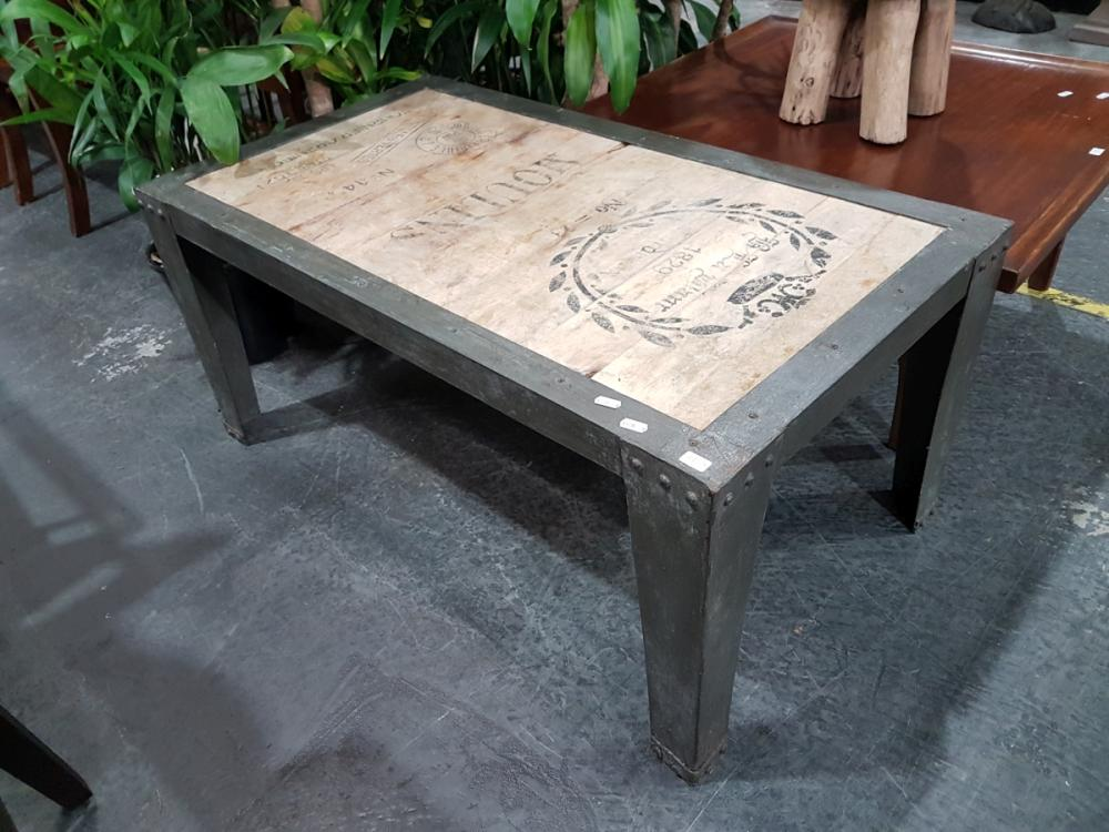Timber and Metal Coffee table