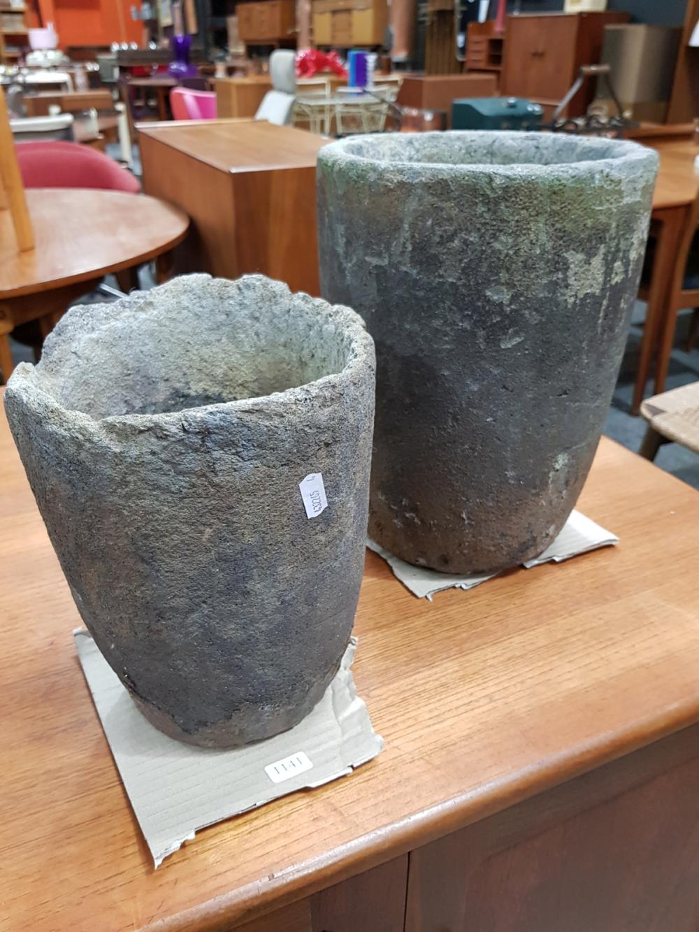 Lot 1141: Vintage Blacksmiths Pinchers and 2 Crucibles