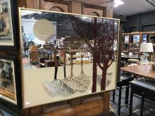 "Lot 1088: Decorative Mirror ""Forrest Reflection"" (small chip to corner)"