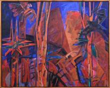 Anneke Silver (1937 - ) - Sunrise at Split Rock - QLD 122 x 152cm