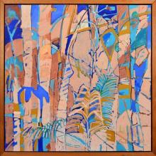 Anneke Silver (1937 - ) - Untitled, 1986 (Tropical Rainforest) 117 x 117cm