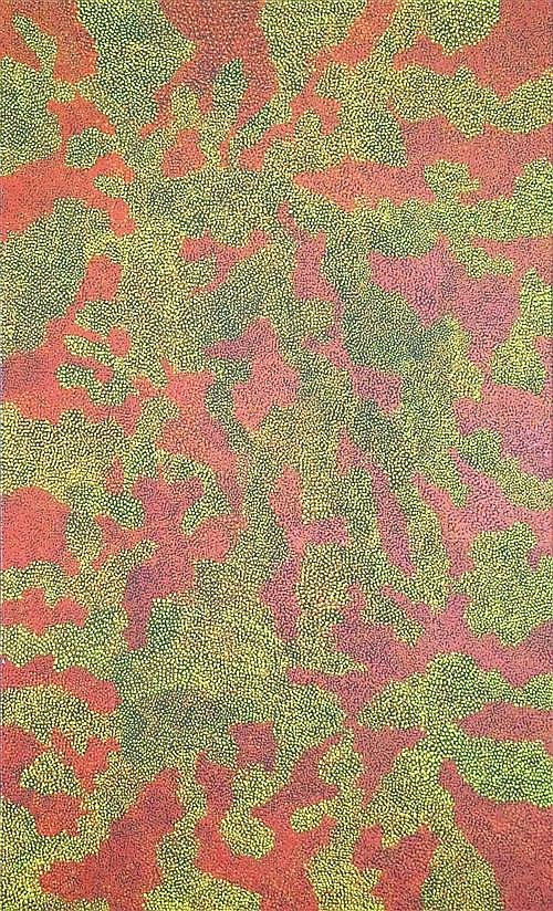 Josie Petrick Kemarre (c.1945 -) - Bush Seed 148 x 90cm