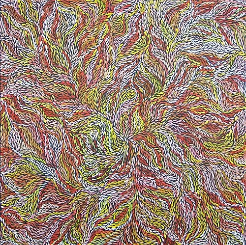Jeannie Petyarre (c.1957 -) - Bush Medicine Leaves 150 x 150cm