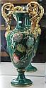 Italian Green & Gilt Vase