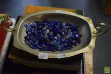 Silverplate Tray Full of Polished Lapis