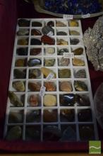Tray of Over 50 Unusual Geology Items, Polished