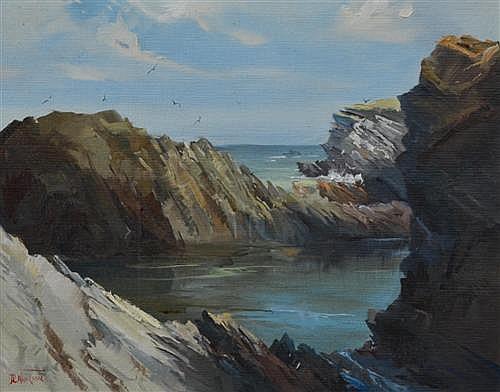 Don R. Neilson - Rocky Pool, Waikarapa Coast 41 x 48cm