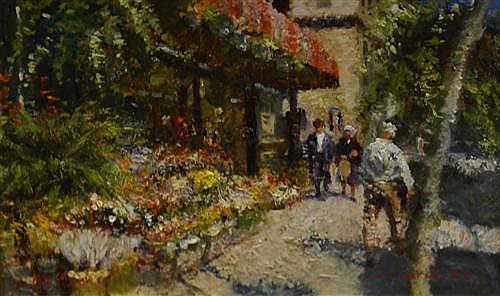 Dale Marsh - Flower Shop, New York 26 x 41cm