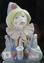 Lladro Bust of Clown with Saxophone