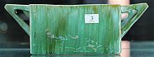 John Campbell Green Glaze Double Handle Trough, Length - 30cm