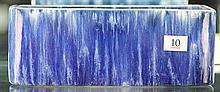 John Campbell Blue Drip Glaze Trough, Length - 24cm