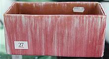 John Campbell Pink Glaze Trough, Length - 20cm
