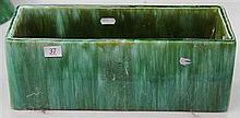 John Campbell Green Glaze Trough, AF Length - 36cm