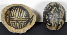 Gloria Fletcher Thancoupie (1937 - 2011) (2 works) - Love Magic Egg and Stoneware Pot h. 10cm, & 12 x 11cm