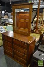 Pine 8 Drawers Dresser