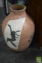 Large Tiled Vase