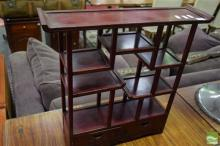 Small Oriental Open Shelves with Two Drawers