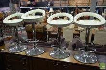 Set of 4 Modern Bar Stools
