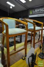 Pair of Timber Tub Seat Bar Stools