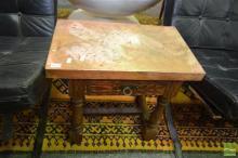 Copper Top Footstool