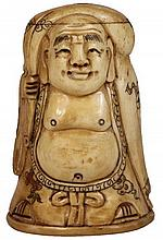 Chinese Figural Bone Snuff Bottle