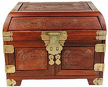 Chinese Carved Timber Jewellery Cabinet