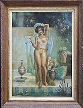 Hans Zatzka (1859 -1945) attrib. - Nude with Shawl 106 x 75cm