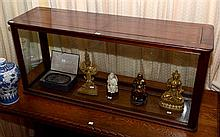 A MUSEUM GRADE TIMBER AND GLASS DISPLAY CABINET