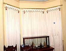 THREE PANELS OF CURTAINS