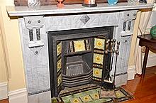 ORNATE VICTORIAN FIREPLACE