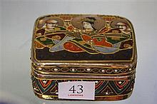 1920's Satsuma Trinket Box