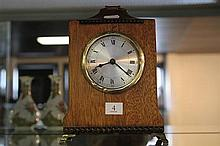 Timber and Brass Mantle Clock