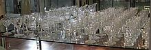 Set of 9 Baccarat Liqueur Glasses and other Crystal Glasses incl Suart