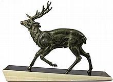 Bronze Signed Figure of a Deer