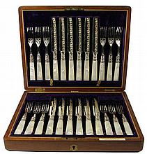 William Drummond & Co Mother of Pearl Handled Fruit Cutlery Set