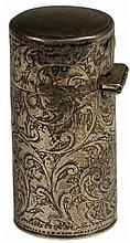 English Hallmarked Sterling Silver Edwardian Perfume Bottle
