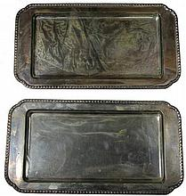 Austro-Hungarian Silver Pair of Trays