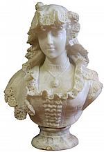 Victorian Marble Carved Figure of a Young Woman