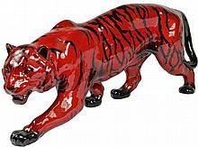 Royal Doulton Flambé Stalking Tiger Figure